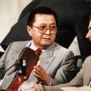 Senator Daniel Inouye (L), chairman of the Senate