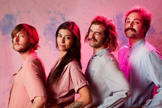 Mild High Club, from left to right: Andrew Burt, Alyson Sayoko, Alexander Brettin, and Maxwell Nitch.