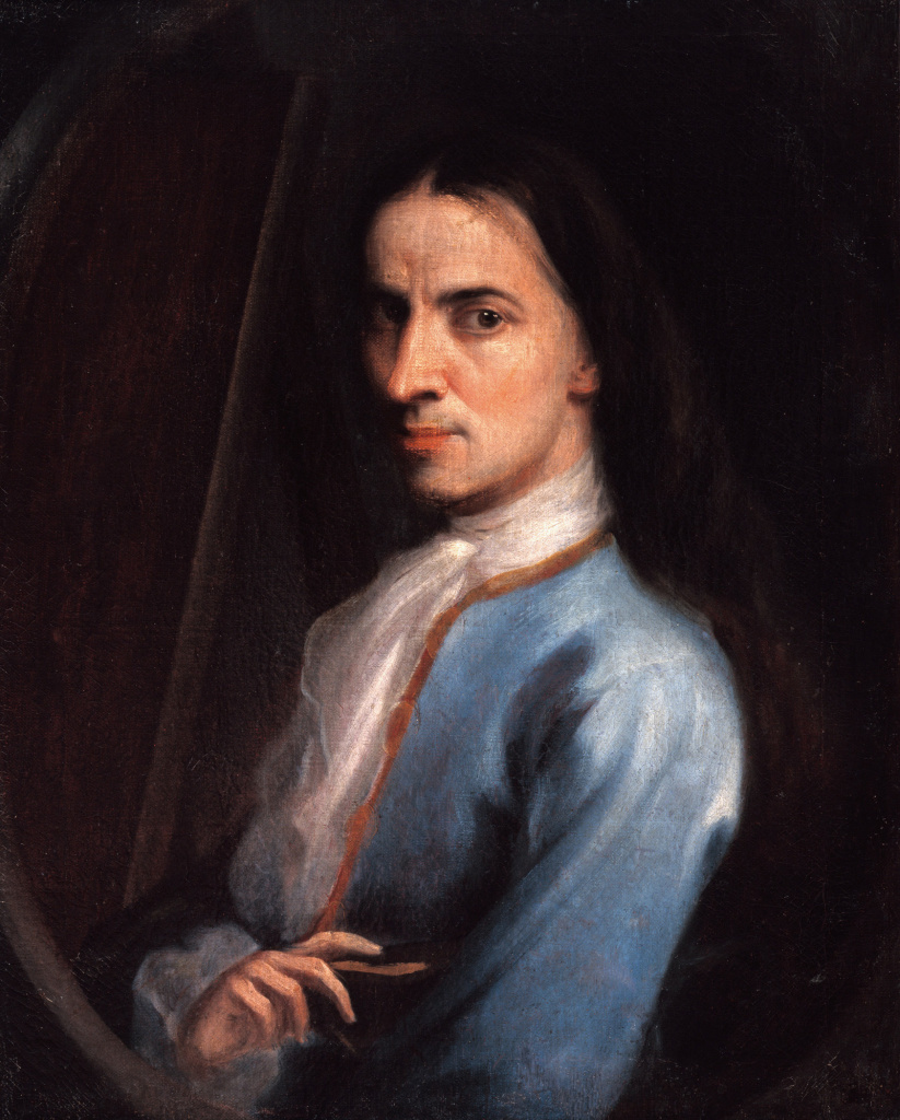 "Juan Rodríguez Juárez, Self-Portrait (Autorretrato), c. 1719. The painting is part of ""Painted in Mexico, 1700–1790: Pinxit Mexici,"" at LACMA through March 18, 2018."