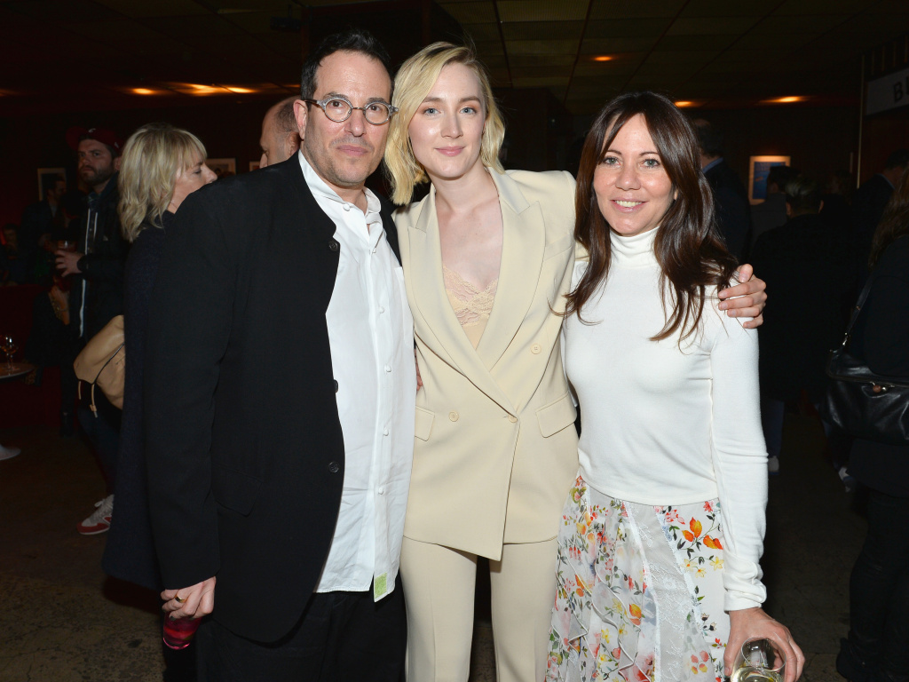 Director Michael Mayer, Saoirse Ronan, and Producer Leslie Urdang celebrate the official afterparty for the premiere of The Seagull.