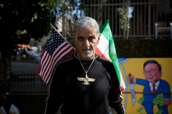 A protestor who was once a engineer for oil pipelines in Iran hopes for a revolution in Iran that will topple Mahmoud Ahmadinejad's government.