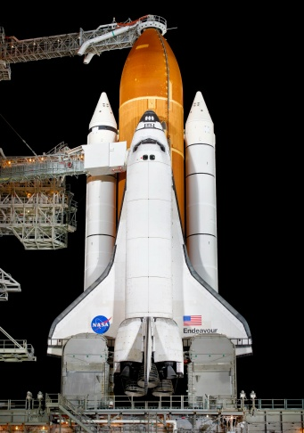 A massive external tank for NASA's space shuttle program is shown in this photo shared by Lockheed Martin. It is similar to ET-94, a tank acquired by the California Science Museum that will eventually be transported to Los Angeles to become part of the Space Shuttle Endeavour exhibit.