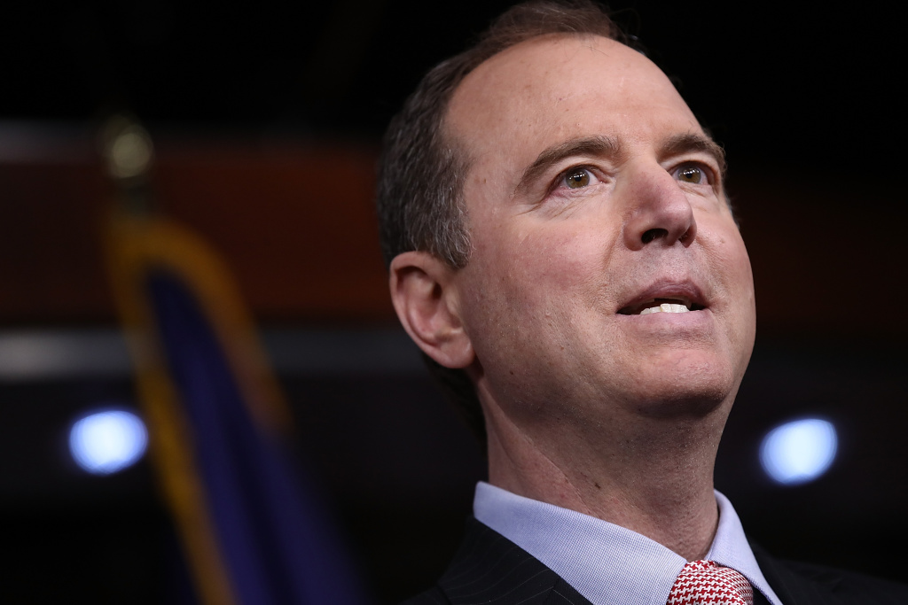 Rep. Adam Schiff (D-CA), ranking member of the House Permanent Select Committee on Intelligence, responds to comments earlier in the day about incidental collection of communications relating to U.S. President Donald Trump.