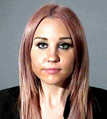 The booking photo of Amanda Bynes on April, 6, 2012 after she was charged with DUI