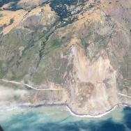 Landslide on Highway 1 near Gorda in Monterey County.