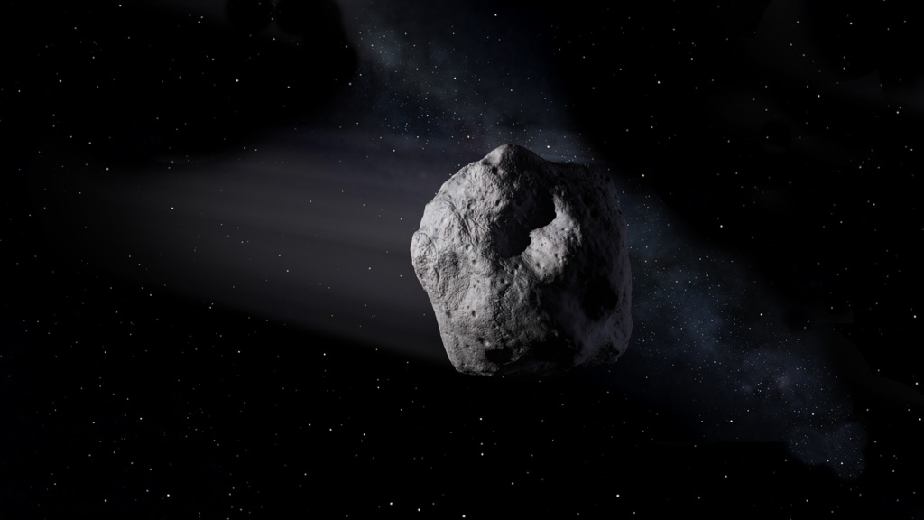 Artist's concept of a near-Earth object. NASA/JPL-Caltech
