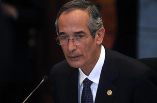 Guatemala's President Alvaro Colom holds a press conference on Oct. 1, 2010 describing the U.S.-led experimentation of the effects of syphilis on Guatemalan citizens without their consent as 'crimes of lese-humanity.'