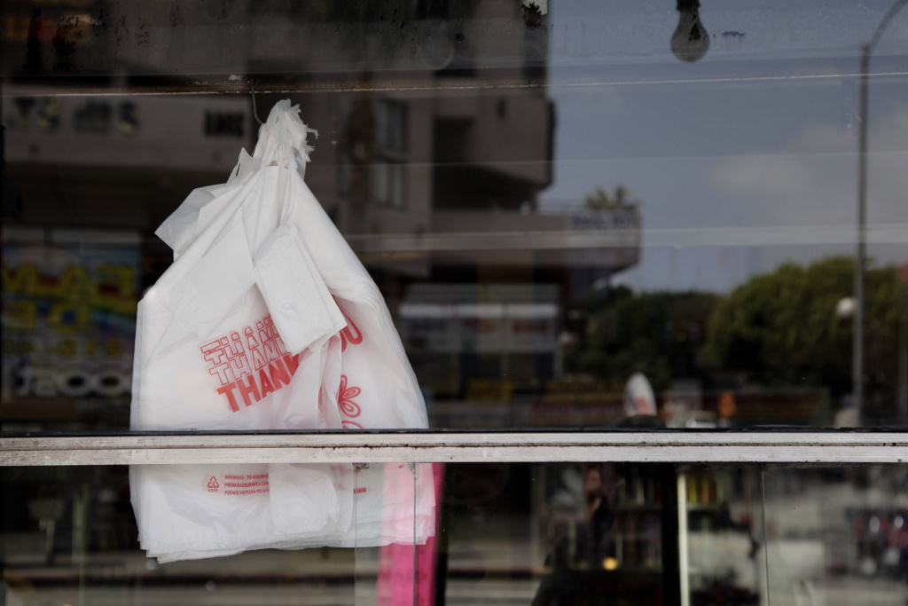 California's Prop 67 would ban thin plastic grocery carryout bags statewide and impose a 10 cent fee on other store options such as paper or heavy duty plastic.