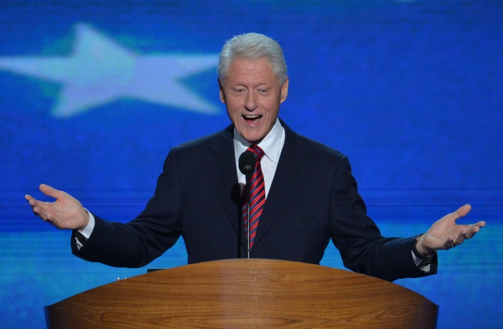 The 42nd President of the United States Bill Clinton speaks to the audience at the Time Warner Cable Arena in Charlotte, North Carolina, on September 5, 2012 on the second day of the Democratic National Convention (DNC).