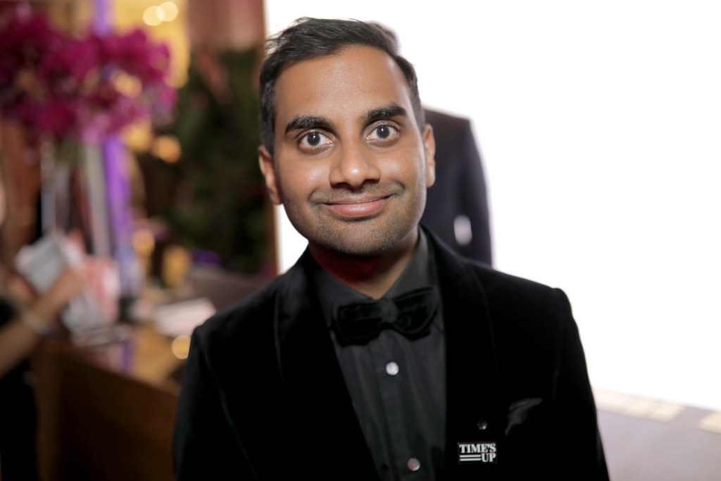 Actor/producer Aziz Ansari attends the Official Viewing and After Party of The Golden Globe Awards bosted by The Hollywood Foreign Press Association on January 7, 2018 in Beverly Hills, California.