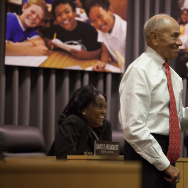 File: Los Angeles Unified Superintendent Ramon Cortines attends his first school board after taking over from John Deasy.