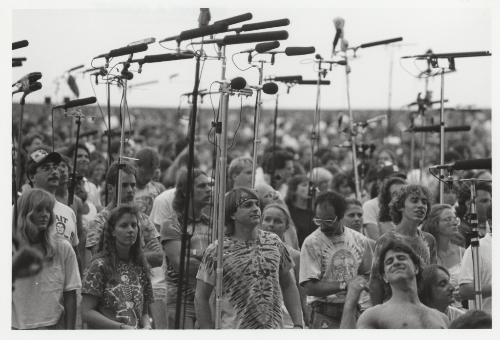 Deadheads in the Taper's Section at an outdoor venue late-1980s. Photographer: Michael Conway