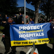 SEIU-UHW protests sale of St. Francis to Prime Healthcare