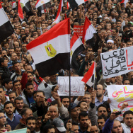 Tens of thousands of Egyptians take part