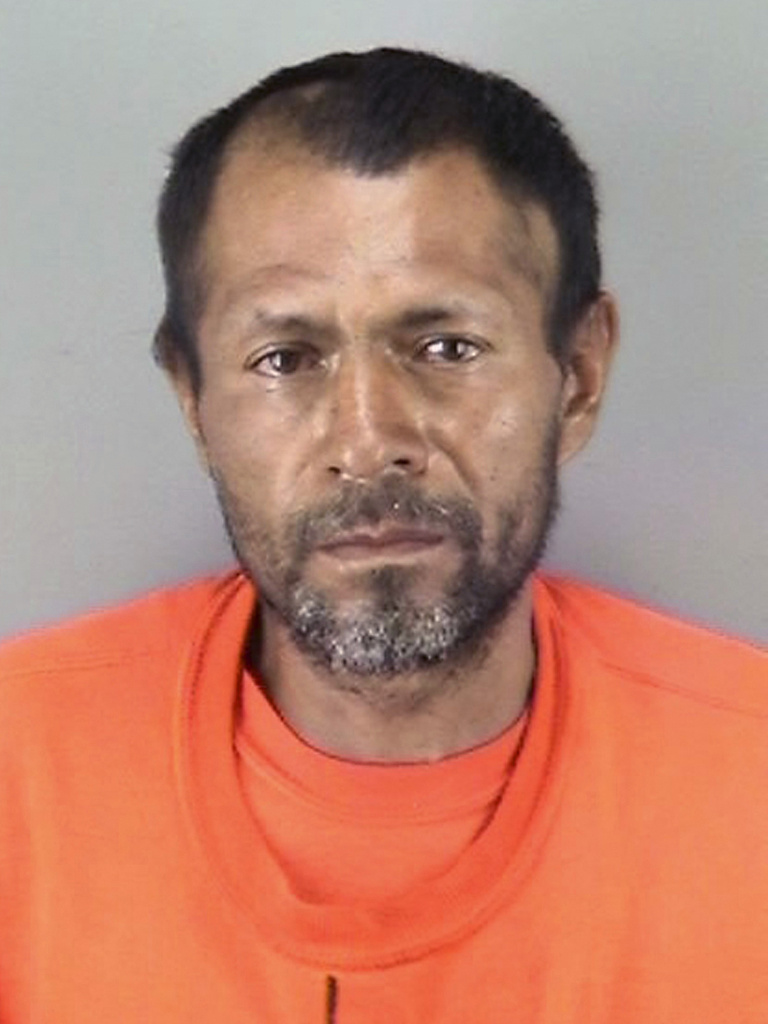 Jose Ines Garcia Zarate in a police booking photo. San Francisco jurors have returned a verdict in his trial for the fatal shooting of Kate Steinle, whose death played into the national debate on immigration.
