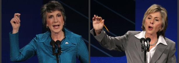 Republican Candidate for U.S. Carly Fiorina and Democratic Candidate/Incumbent California Senator Barbara Boxer