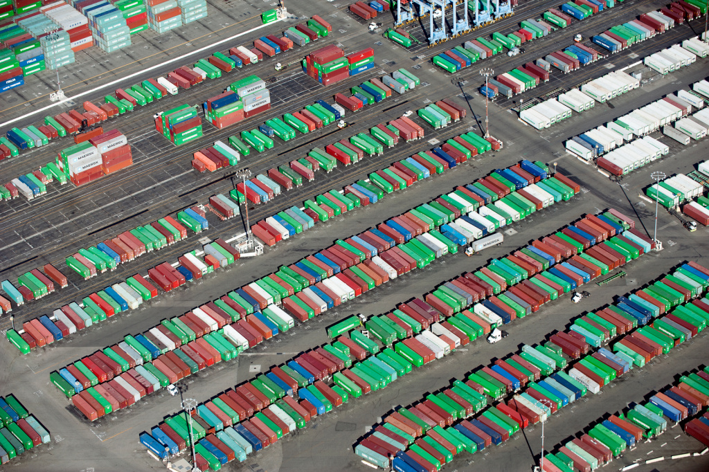 Cargo containers at the Port of Long Beach.