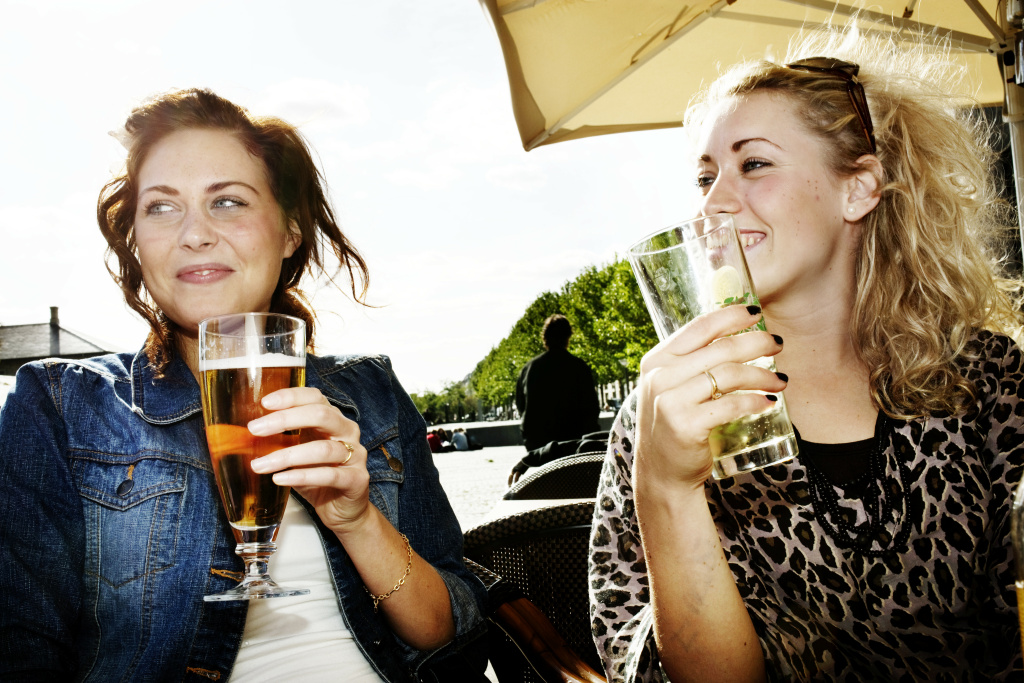 A 2011 study found two-thirds of college-aged women have gotten drunk at least once; a 1953 study put that figure at one half. (This is a file photo.)
