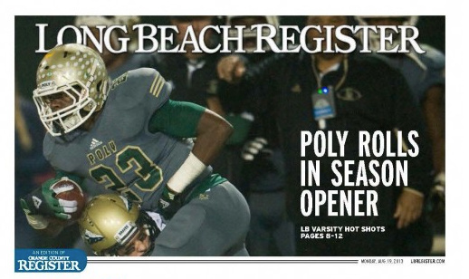 Screenshot of the debut issue of Long Beach Register.