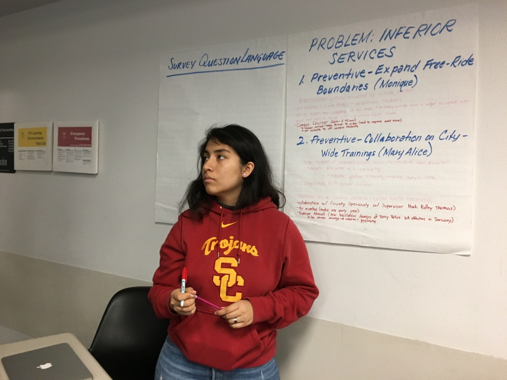 Diana Vargas takes part in a USC class that set out to investigate the university's abuse scandal and propose reforms.