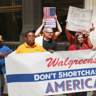 Union Groups Rally Against Walgreens