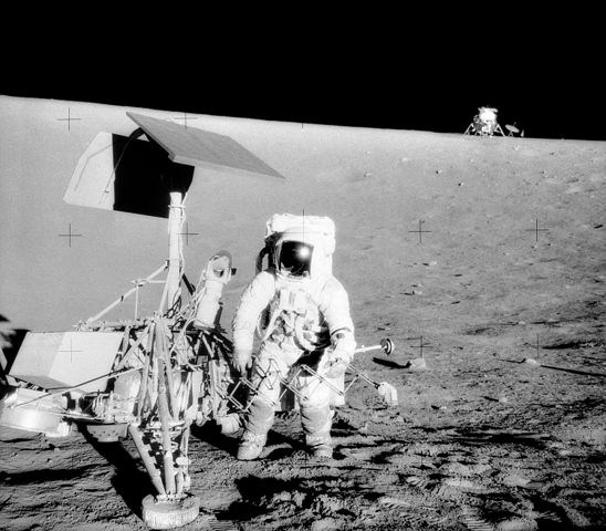Apollo 12 moon landing, 1969. NASA would like to return one day to study what was left behind.