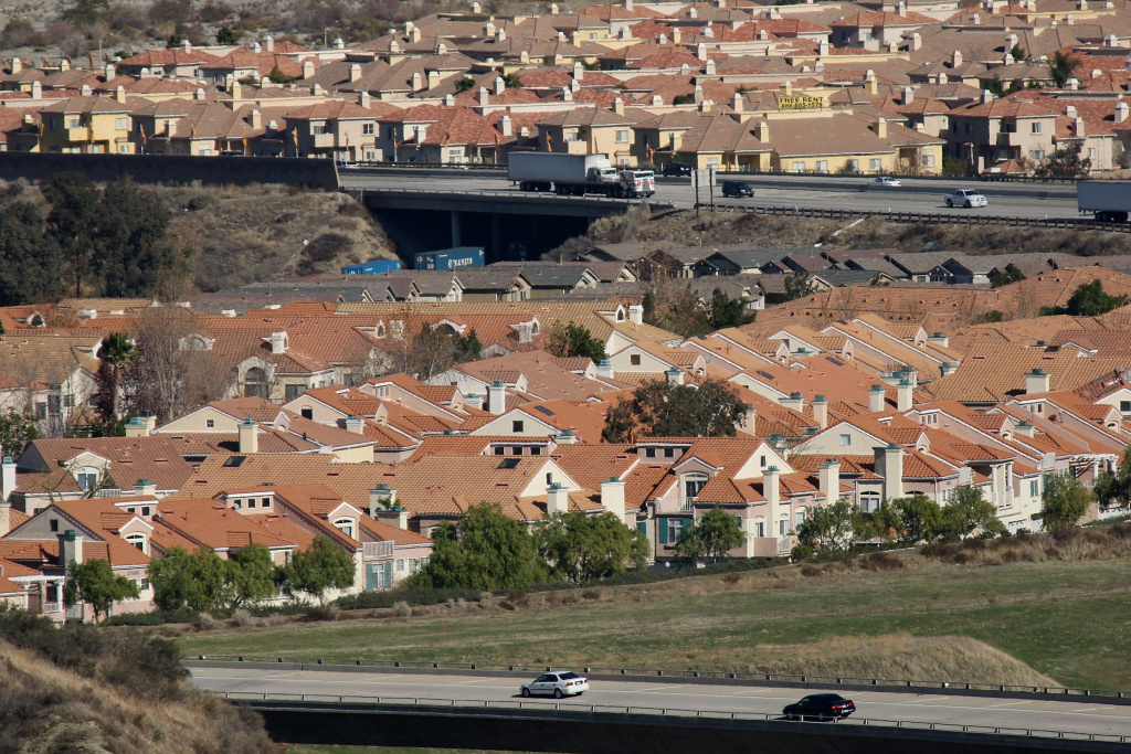 Tract  homes in Santa Clarita, California.
