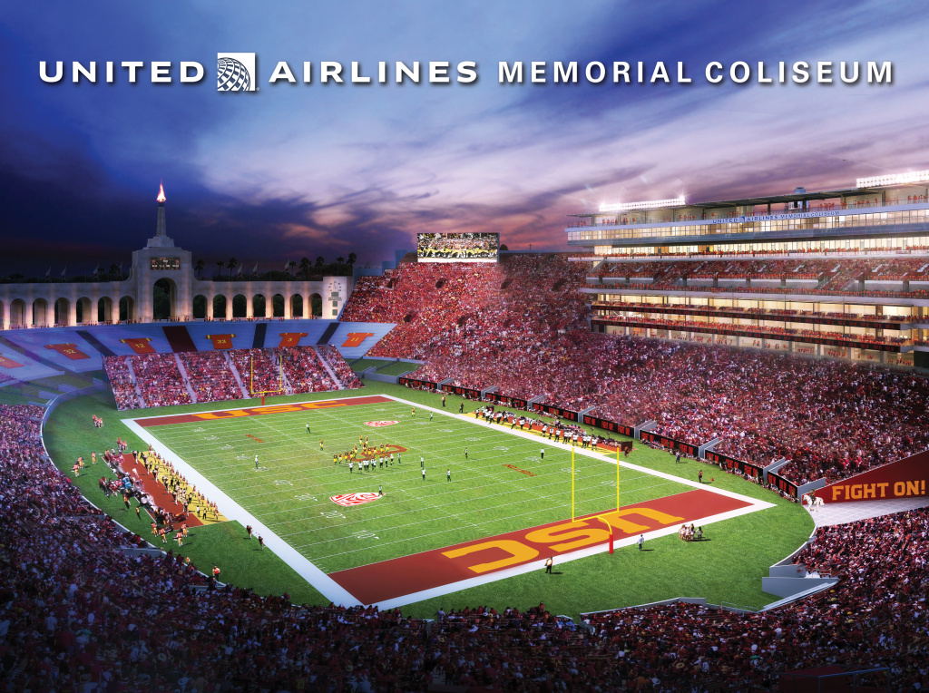 A rendering of the new United Airlines Memorial Coliseum.