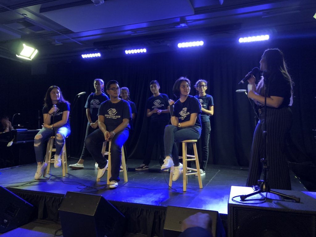 Students from the Boys & Girls Club of Hollywood answer questions about songs they wrote about their experiences being bullied.