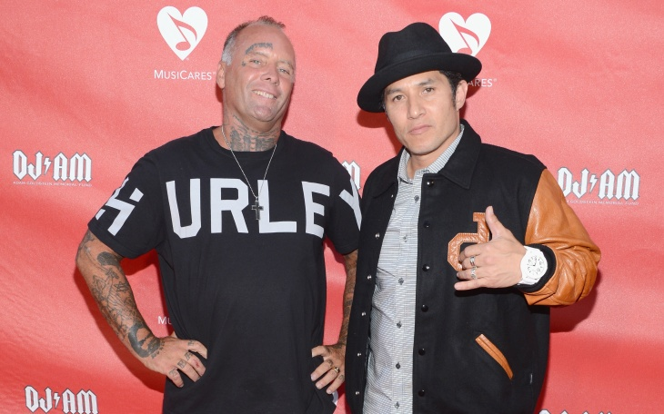 Jay Adams and Christian Hosoi attend the 9th Annual MusiCares MAP Fund Benefit Concert at Club Nokia on May 30, 2013 in Los Angeles.