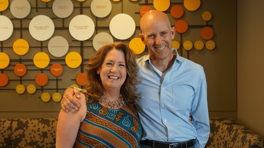 Actress Ann Dowd and The Frame's John Horn at KPCC.