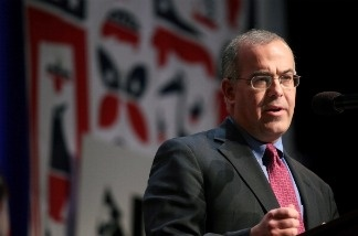 Journalist David Brooks speaks at the launch of the unaffiliated political organization known as No Labels December 13, 2010 at Columbia University in New York City.