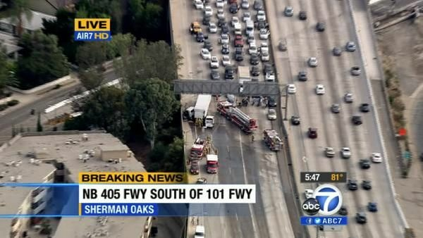 Los Angeles Experiencing Traffic Issues At Rush Hour Especially On The 405