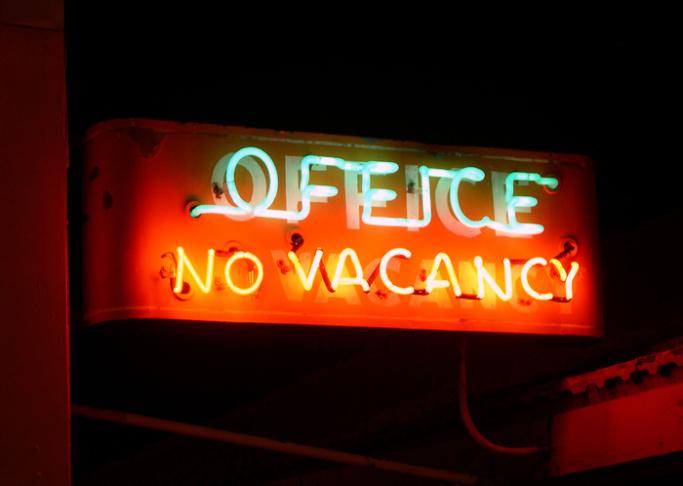 hotel motel no vacancy sign