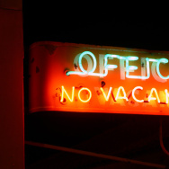 hotel motel no vacancy sign