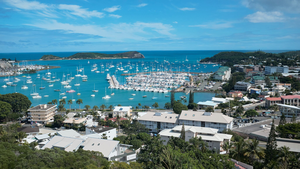 A view of the bay of Noumea, the capital of New Caledonia, seen earlier this year. The Pacific Tsunami Warning Center said that a magnitude 7.6 earthquake may threaten Noumea with dangerous waves Wednesday afternoon local time.