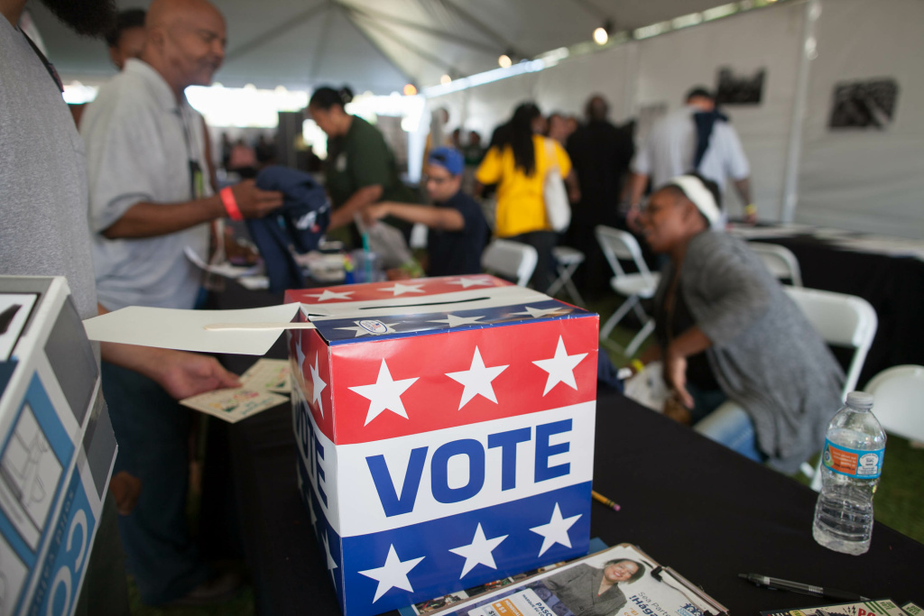 FILE PHOTO: Local residents register to vote during the 5th annual Power Fest Music and Art Festival at Martin Luther King Jr. Park on Saturday, Sept. 3, 2016.