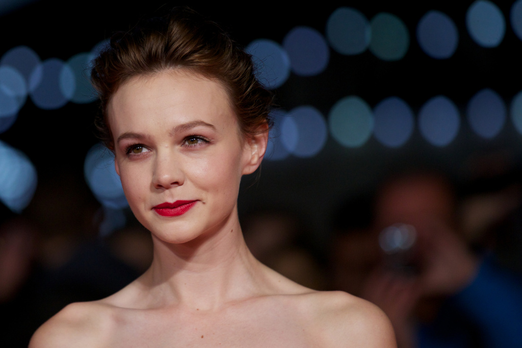 British actress Carey Mulligan attends the premiere of 'Inside Llewyn Davis' during the London Film Festival in central London on October 15, 2013.