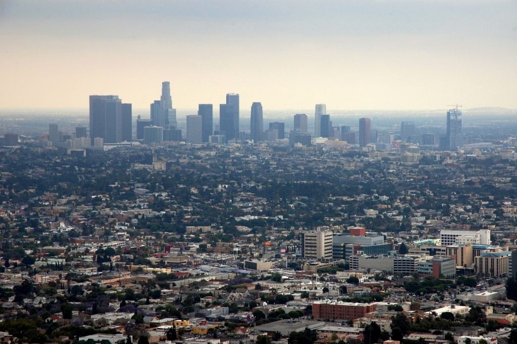 An overcast day in Los Angeles.