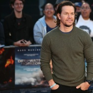 US actor Mark Wahlberg poses arriving on the red carpet for the European Premiere of the film Deepwater Horizon in London on September 26, 2016.