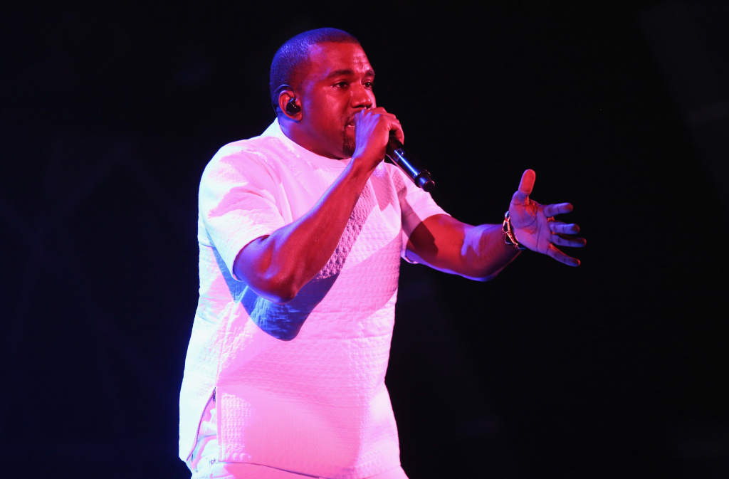 Recording artist Kanye West performs onstage during the 2012 BET Awards at The Shrine Auditorium on July 1, 2012 in Los Angeles, California.