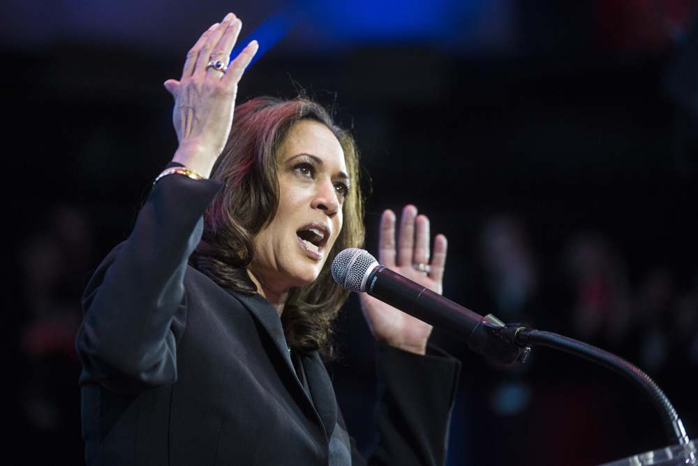 California's new U.S. Senator Kamala Harris speaks during her election night watch party at The Exchange LA on Tuesday night, Nov. 8, 2016. Harris defeated opponent Rep. Loretta Sanchez during Tuesday's election.