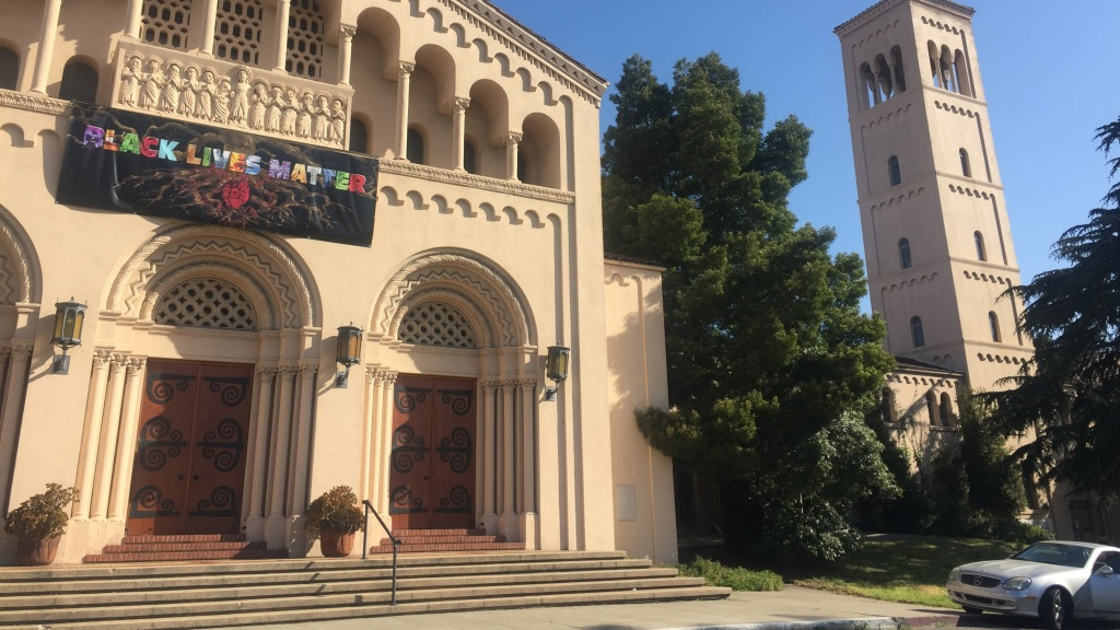 When the First Congregational Church of Oakland decided to hang a Black Lives Matter sign, they started a conversation that led them to try to stop calling police, especially on people of color.