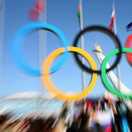 File photo of the Olympic rings.