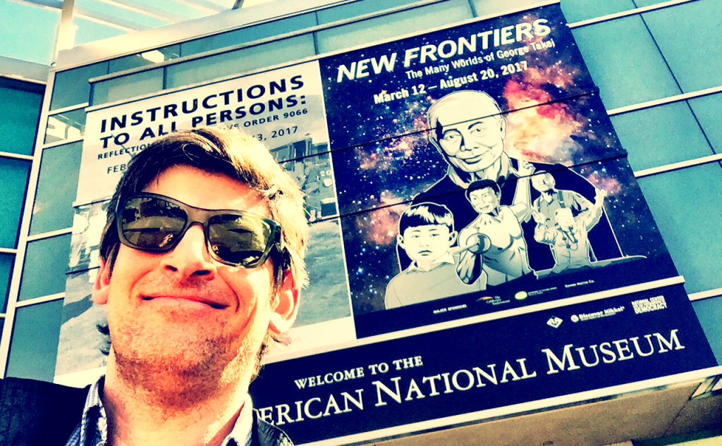 John Rabe outside the the Japanese American National Museum in Little Tokyo.