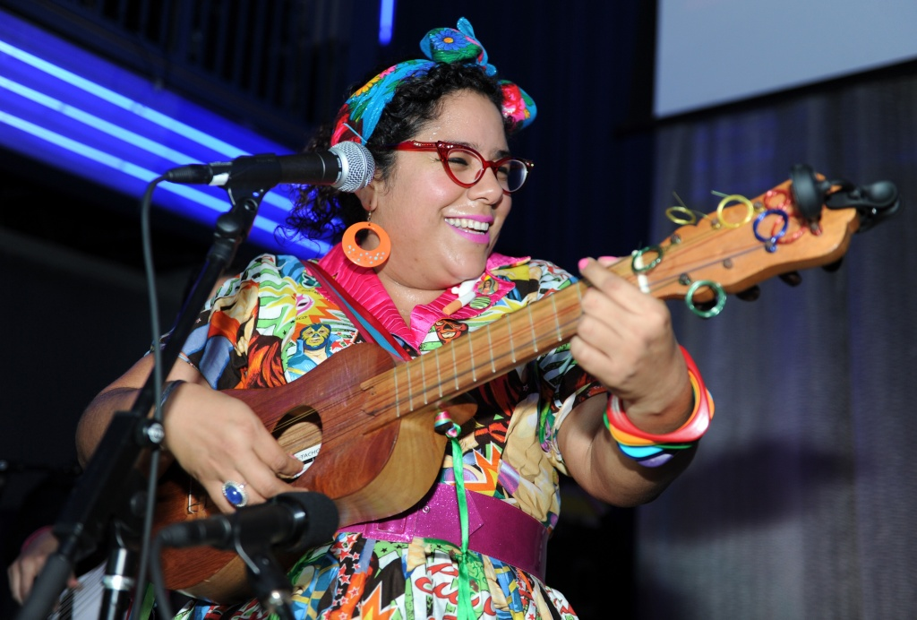 La Santa Cecilia performs on February 4, 2015 in Houston, Texas.