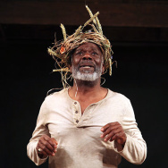 Joseph Marcell as Lear.