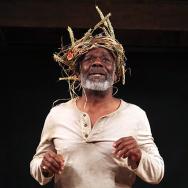 Joseph Marcell as Lear.