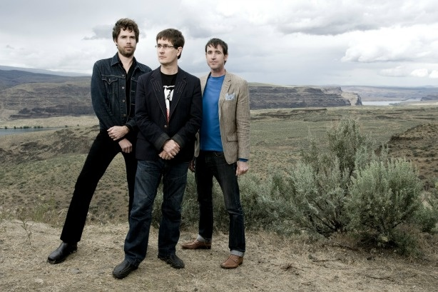 The Mountain Goats. Left to right: Jon Wurster, John Darnielle and Peter Hughes.