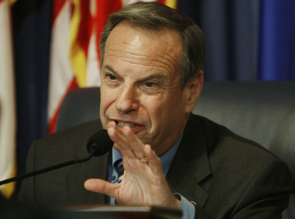 Then-committee chairman Rep. Bob Filner, D-Calif., questions Veterans Affairs Secretary James Peake, not pictured, at the House Committee on Veterans' Affairs hearing regarding veterans' suicides on Capitol Hill in Washington, Tuesday, May 6, 2008.